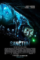 "Poster art for ""Sanctum."""