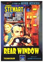 "Poster art for ""Rear Window."""