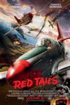 "Poster art for ""Red Tails."""