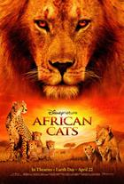 "Poster art for ""African Cats: Kingdom of Courage."""