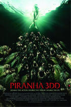 "Poster art for ""Piranha 3DD."""