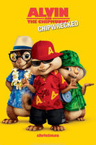 "Poster art for ""Alvin and the Chipmunks: Chipwrecked."""