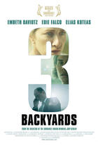 "Poster art for ""3 Backyards."""