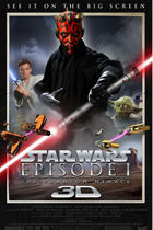 "Poster art for ""Star Wars: Episode I -- The Phantom Menace 3D."""