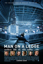 "Poster art for ""Man on a Ledge."""