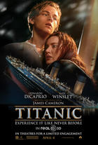 "Poster art for ""Titanic 3D."""