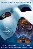 "Poster art for ""Phantom of the Opera 25th Anniversary."""
