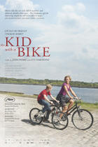"Poster art for ""The Kid With a Bike."""
