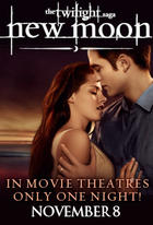 "Poster art for ""Twilight Saga Tuesdays: New Moon."""