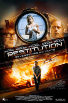 "Poster art for ""Restitution."""