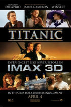 "Poster art for ""Titanic: An IMAX 3D Experience."""