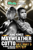 "Poster art for ""Ring Kings Live: Mayweather vs. Cotto."""