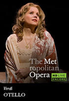 Poster art for &quot;The Metropolitan Opera: Otello Encore.&quot;
