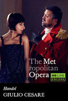 "Poster art for ""The Metropolitan Opera: Giulio Cesare."""