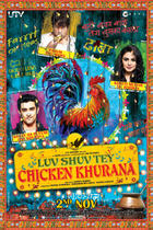 "Poster art for ""Luv Shuv Tey Chicken Khurana."""