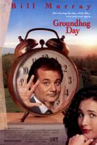 "Poster art for ""Groundhog Day."""