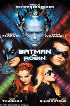 "Poster art for ""Batman & Robin."""