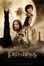 "Poster art for ""The Lord of the Rings: The Two Towers."""