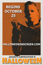 "Poster art for ""John Carpenter's Halloween - Presented by Screenvision."""