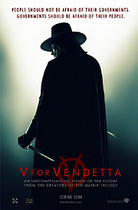"Poster art for ""V for Vendetta."""