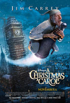 "Poster art for ""Disney's A Christmas Carol."""