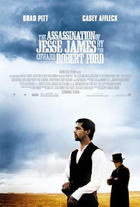 """The Assassination of Jesse James by the Coward Robert Ford"" poster art."