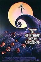 "Poster art for ""Tim Burton's The Nightmare Before Christmas."""