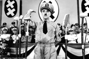 A scene from the film THE GREAT DICTATOR.