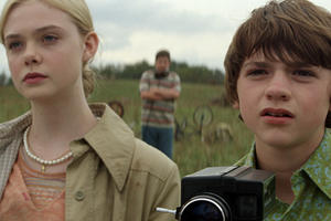 "Elle Fanning and Joel Courtney as Joe Lamb in ""Super 8."""