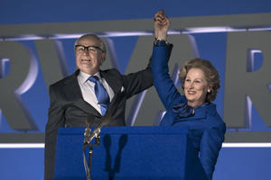 Jim Broadbent as Denis Thatcher and Meryl Streep as Margaret Thatcher in ``The Iron Lady.''