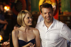 Leslie Bibb as Kelly and Jason Sudeikis as Eric in ``A Good Old Fashioned Orgy.''