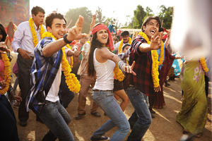 Imran Khan, Katrina Kaif, and Ali Zafar in ``Mere Brother Ki Dulhan.''