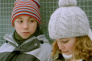 Emilien Neron as Simon and Sophie Nelisse as Alice in ``Monsieur Lazhar.'