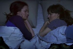 Emily Blunt as Iris and Rosemarie DeWitt as Hannah in ``Your Sister's Sister.''