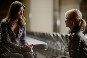 Jennifer Carpenter and January Jones as Laura Gerard in ``Seeking Justice.''
