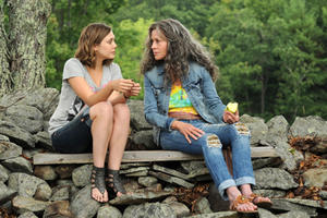 Elizabeth Olsen as Zoe and Jane Fonda as Grace in ``Peace, Love and Misunderstanding.''