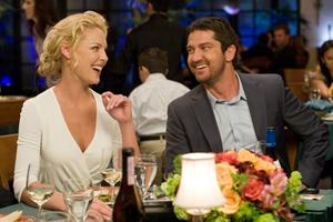 "Katherine Heigl and Gerard Butler in ""The Ugly Truth."""