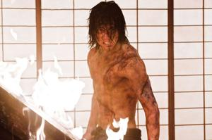"Rain as Raizo in ""Ninja Assassin."""