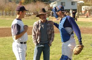 "Noah Miller, Ed Harris and Logan Miller in ""Touching Home."""