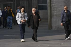 "Tahar Rahim as Malik and Niels Arestrup as Cesar Luciani in ""A Prophet."""