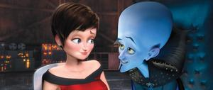 "Tina Fey voices Roxanne Ritchi and Will Ferrell voices Megamind in ""Megamind."""