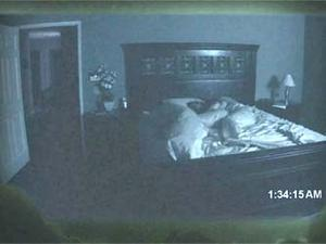 "A scene from ""Paranormal Activity."""