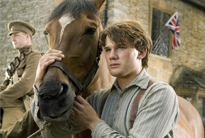 "Jeremy Irvine as Albert in ""War Horse."""
