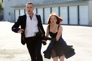 "Justin Timberlake and Amanda Seyfried in ""In Time."""