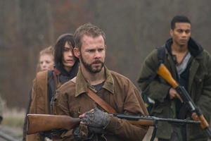"Ashley Bell, Shannyn Sossamon, Dominic Monaghan and Cory Hardrict in ""The Day."""