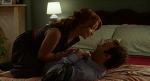 Mike Birbiglia as Matt Pandamiglio and Lauren Ambrose as Abby in &quot;Sleepwalk With Me.&quot;