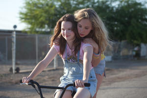 "Kay Panabaker as Alison Hoffman and Juno Temple as Lily Hobart in ""Little Birds."""