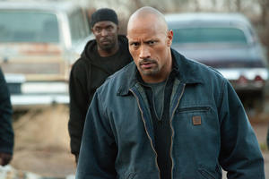 "Dwayne Johnson in ""Snitch."""