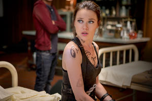 "Jemima West as Isabelle Lightwood in ""The Mortal Instruments: City of Bones."""