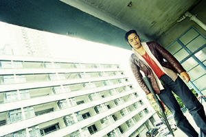 "Takashi Sorimachi in the film ""Fulltime Killer."""